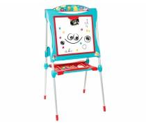 Dvipusė vaikiška piešimo lenta su priedais 60 vnt | Mėlyna | Smoby