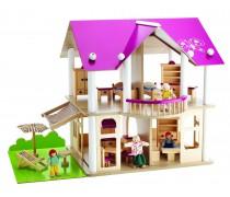 Medinis lėlių namas su priedais 27 vnt   Eichhorn