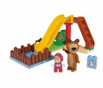 Žaidimų aikštelė kaladėlių rinkinys | Maša ir Lokys | Big
