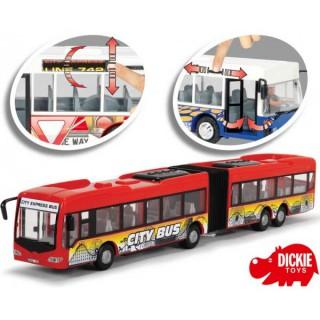 Dvigubas raudonas autobusas | City Express 46 cm | Dickie 3748001