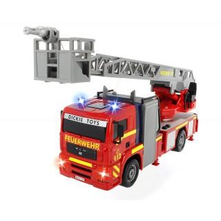 Gaisrinė mašina 31 cm su garso ir šviesos efektais   City Fire Engine   Dickie 3715001