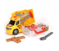 Žaislinis automobilis su meistro įrankiais lagamine | Handyman push and play | Dickie
