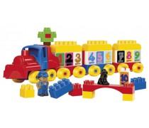 Lavinamasis traukinukas su 65 kaladėlėmis | Abrick | Ecoiffier 3244