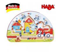 Vaikiškas medinis magnetinis stalo žaidimas-labirintas | Pelės gaisrininkai | Haba