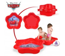 Vaikškas raudonas baseinas-smėlio dėžė su dangčiu 2in1 | Žaibas Makvynas | Injusa