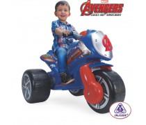 Vaikiškas akumuliatorinis triratis motociklas 6V | Avengers | Injusa