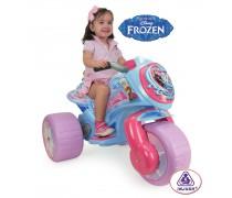 Vaikiškas akumuliatorinis triratis motociklas 6V mergaitėms | Frozen | Injusa