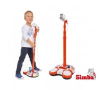 Vaikiškas mikrofonas MP3 su stovu | Simba