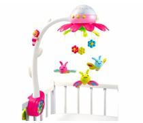 Muzikinė rožinė karuselė su drugeliais ir projektoriumi | Smoby
