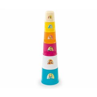 Vaikiška piramidė-bokštas 40 cm | Cotoons | Smoby 110405