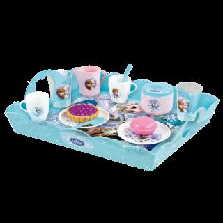 Vaikiškas arbatos indų rinkinys 16 vnt. su padėklu | Frozen | Smoby