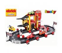 Žaislinė lentynių trasa su 4 automobiliais | Ecoiffier Abrick | Smoby