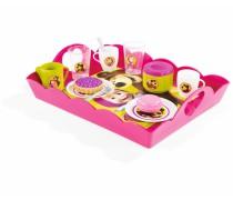 Vaikiškas arbatos indelių rinkinys su padėklu | Maša ir lokys | Smoby