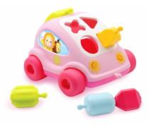 Žaislinis rožinis automobilis-rūšiuoklis | Cotoons | Smoby