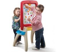 Vaikiška dvipusė magnetinė lenta | All Around Easel for Two |Step2