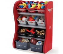 Vaikiška raudona žaislų lentyna | Corvette | Step2