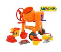Žaislinė betono maišyklė su priedais   Wader