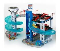 Žaislinis 3 aukštų garažas su nusileidimo trasa | Bosch Service | Klein 2809