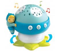 Muzikinė mėlyna naktinė lempa su projektoriumi | Grybukas | Smoby 110109