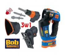 Vaikiškas elektrinis atsuktuvas su rinkiniu | Bob The Builder 3 in 1 | Smoby