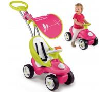 Mašinėlė paspirtukas Pink 2in1 | Bubble Go | Smoby 720102