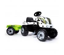 Vaikiškas minamas baltas traktorius su priekaba | Farmer XL | Smoby