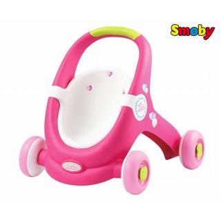 Vežimėlis stumdukas vaikštukas 2in1   Baby Walker MiniKiss   Smoby 210201