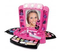 Vaikiškas makiažo - kosmetikos rinkinys su veidrodžiu ir lemputėmis | CRAZY CHIC | Clementoni 78224