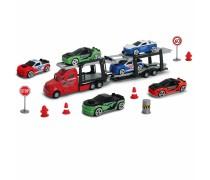 Autovežis 27 cm su 6 mašinėlėmis ir kelio ženklais | Dickie 3745001