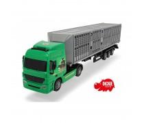 Didelis žaislinis sunkvežimis su konteineriu gyvūnams 42 cm | Dickie