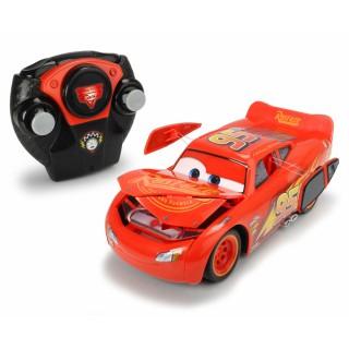 Radijo bangomis valdomas automobilis Žaibas Makvynas   RC Crash Car 2018   Dickie