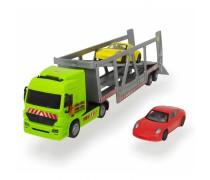 Sunkvežimis 38 cm su dviem Porsche automobiliais | Dickie