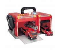 Gaisrininkų gelbėjimo stotis su 2 automobiliais | Fire station | Dickie 3716013