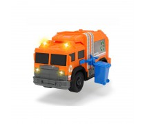 Žaislinė oranžinė šiukšliavežė su konteineriu | Dickie 3306001