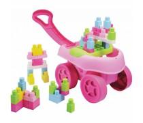 Abrick kaladėlių rinkinys rožiniame vežimėlyje 40 vnt | Ecoiffier