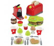 Žaislinis pusryčių rinkinys su priedais 33 vnt | Ecoiffier 2647
