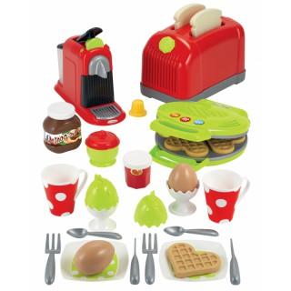Žaislinis pusryčių rinkinys su priedais 33 vnt   Ecoiffier