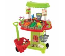 Žaislinė daržovių parduotuvė su priedais 40 vnt | Ecoiffier