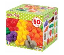 Žaislinių vaisių ir daržovių rinkinys 50 vnt | Ecoiffier