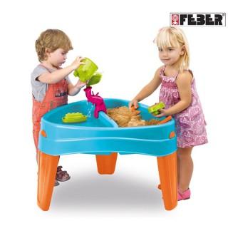 Smėlio ir vandens stalas su dangčiu | Play Island | Feber 10238