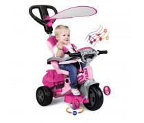 Vaikiškas rožinis triratukas su šviesos ir garso efektais | Baby Twist 4in1 | Feber 09781