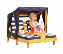 Dvigulis vaikiškas gultas su baldakimu | 00524 | KidKraft
