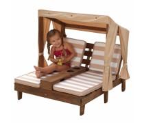 Dvigulis vaikiškas gultas su baldakimu | rusvai gelsvas 2018  | KidKraft