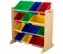 Vaikiška medinė žaislų ir knygų lentyna | KidKraft 16774