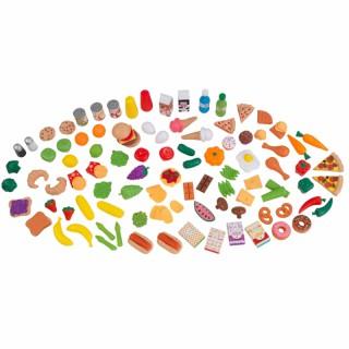 Žaislinis imitacinis maisto rinkinys 115 vnt | KidKraft