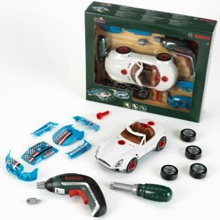 Autopuošybos automobilis su priedais ir Ixolinu atsuktuvu 2in1   Bosch   Klein 8668