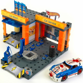 Automobilių remonto dirbtuvės ir plovykla Hot Wheels | Konstruktorius | Klein 8015