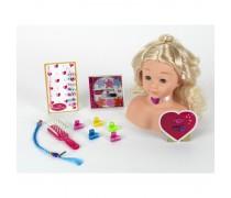 Lėlės galva šukuosenoms su priedais | Princess coralie | Klein 5236