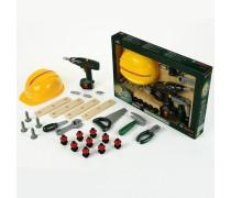 Vaikiškas įrankių komplektas su atsuktuvu, šalmu ir priedais 36 vnt | Bosch | Klein 8418