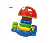 Lavinamasis žaislas piramidė su rūšiuokliu | Simba 4011983